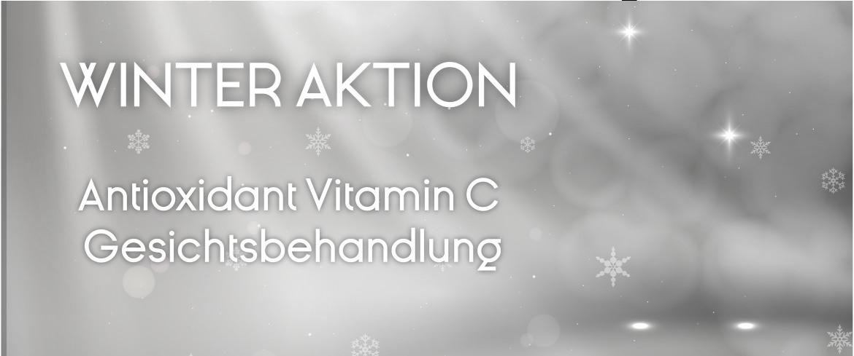 Winteraktion Gesichtsbehandlung mit Hochkonzentrierte Vitamin C